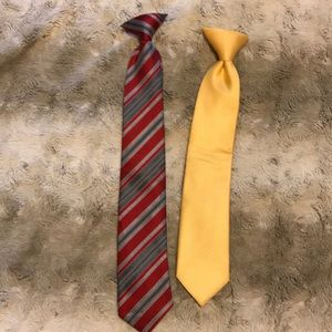 2 boys clip-on ties
